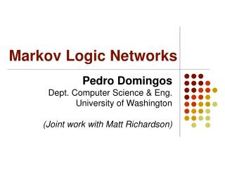 Markov Logic Networks