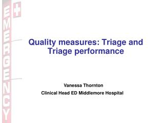 Quality measures: Triage and Triage performance