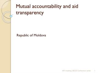 Mutual accountability and aid transparency