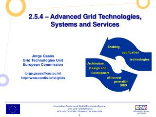 2.5.4 – Advanced Grid Technologies, Systems and Services