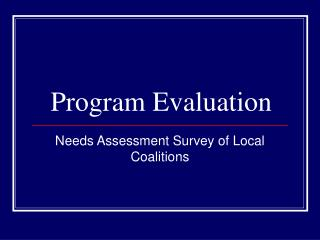 Program Evaluation