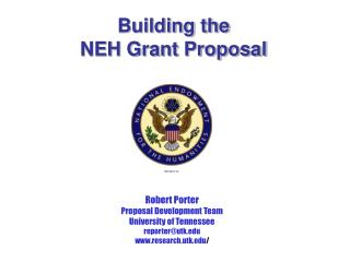 Building the  NEH Grant Proposal