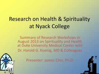 Research on Health & Spirituality at Nyack College