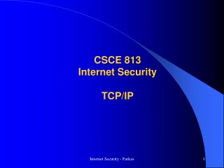 CSCE 813 Internet Security TCP/IP