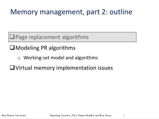 Memory management, part 2: outline