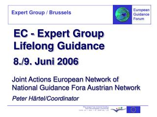 EC - Expert Group Lifelong  Guidance 8./9. Juni 2006