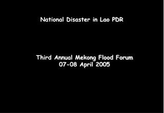 National Disaster in Lao PDR