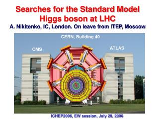 ICHEP2006, EW session, July 28, 2006