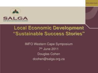 "Local Economic Development ""Sustainable Success Stories"""