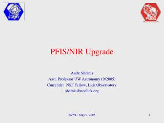 PFIS/NIR Upgrade