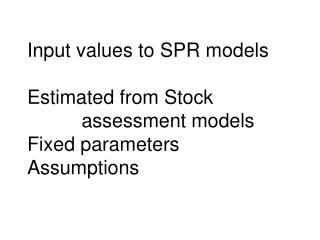 Estimated in stock assessment models