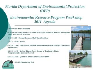 Florida Department of Environmental  Protection (DEP)