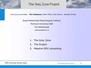 Grey Zone committee:    Pier Siebesma , Martin Miller, Andy Brown,  Jeanette Onvlee