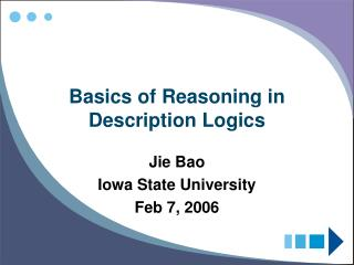 Basics of Reasoning in Description Logics
