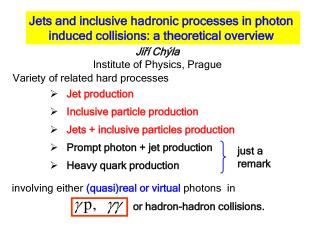 Jets and inclusive hadronic processes in photon  induced collisions: a theoretical overview