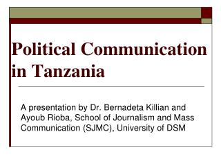 Political Communication in Tanzania
