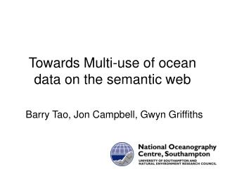 Towards  Multi-use of ocean data on the semantic web