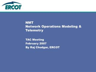 NMT Network Operations Modeling & Telemetry