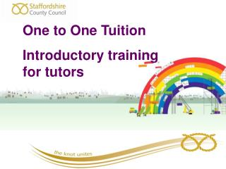 One to One Tuition Introductory training for tutors