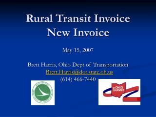 Rural Transit Invoice New Invoice