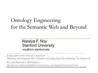 Ontology Engineering  for the Semantic Web and Beyond