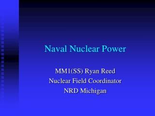 Naval Nuclear Power