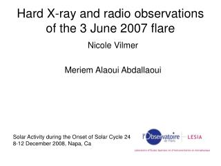 Hard X-ray and radio observations of the 3 June 2007 flare