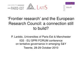 'Frontier research' and the European Research Council: a connection still to build?
