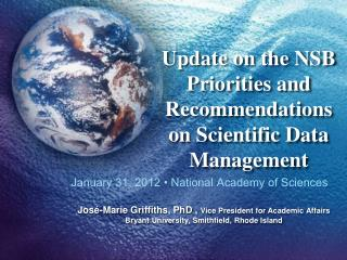Update  on the NSB Priorities and Recommendations on Scientific Data  Management