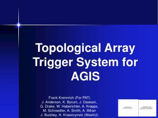 Topological Array Trigger System for AGIS
