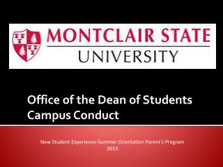 Office of the Dean of Students Campus Conduct