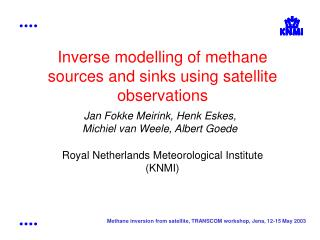 Inverse modelling of methane sources and sinks using satellite observations