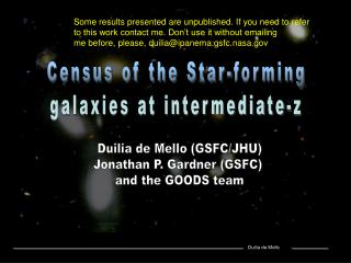 Census of the Star-forming