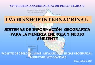 I WORKSHOP INTERNACIONAL