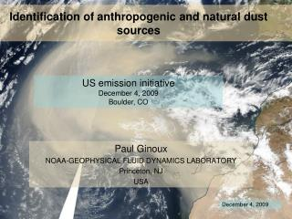 Identification of anthropogenic and natural dust sources