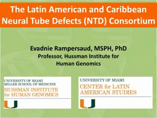 The Latin American and  Caribbean  Neural  Tube Defects  (NTD)  Consortium