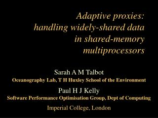 Adaptive proxies: handling widely-shared data in shared-memory multiprocessors