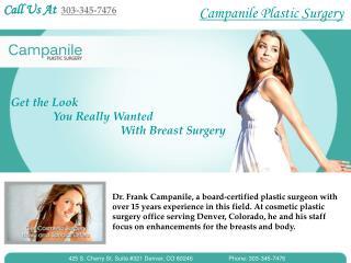 Breast Augmentation Denver By Dr.Frank Campanile