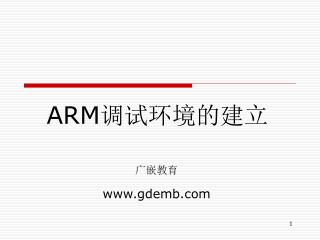 ARM 调试环境的建立