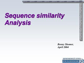 Sequence similarity  Analysis