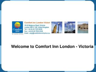 Comfort in London - Victoria - Hotels near Victoria Station
