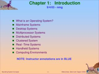 Chapter 1:   Introduction 9/4/03 - nmg