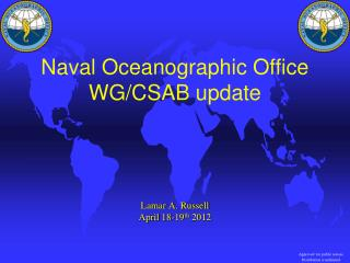 Naval Oceanographic Office WG/CSAB update