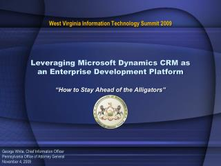 Leveraging Microsoft Dynamics CRM as an Enterprise Development Platform