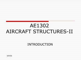 AE1302  AIRCRAFT STRUCTURES-II
