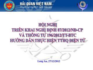 Long An, 27/12/2012