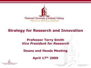 Strategy for Research and Innovation Objective and Vision