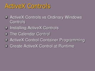 ActiveX Controls
