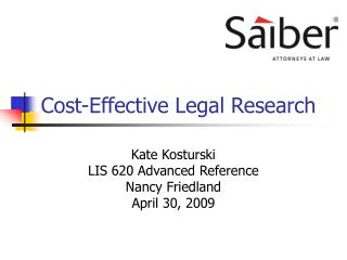 Cost-Effective Legal Research