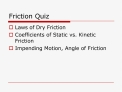 Friction Quiz